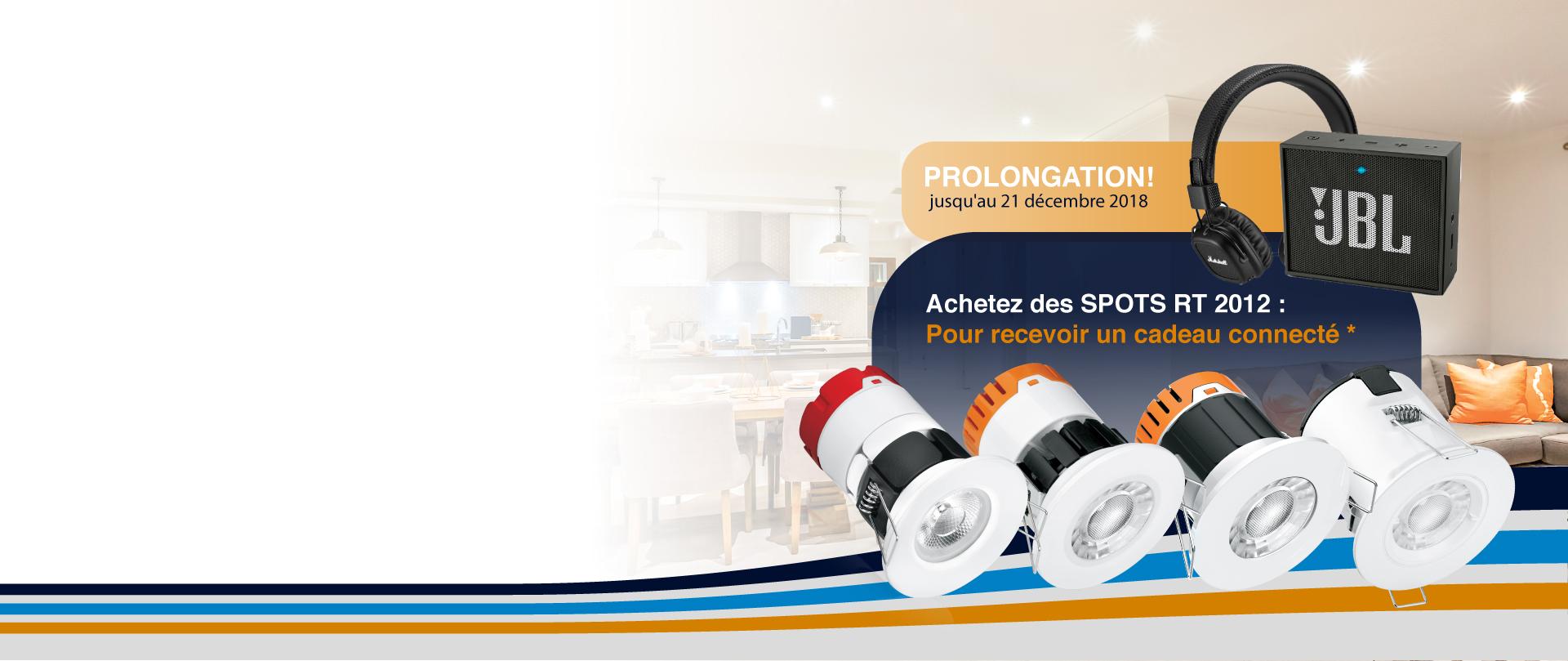 Image de la catégorie Promo SPÉCIALE : Spot Encastré RT 2012