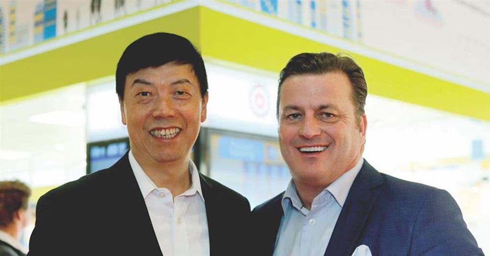Andrew Johnson, Aurora CEO & Founder with Jack Huang Aurora Asia CEO and co-founder