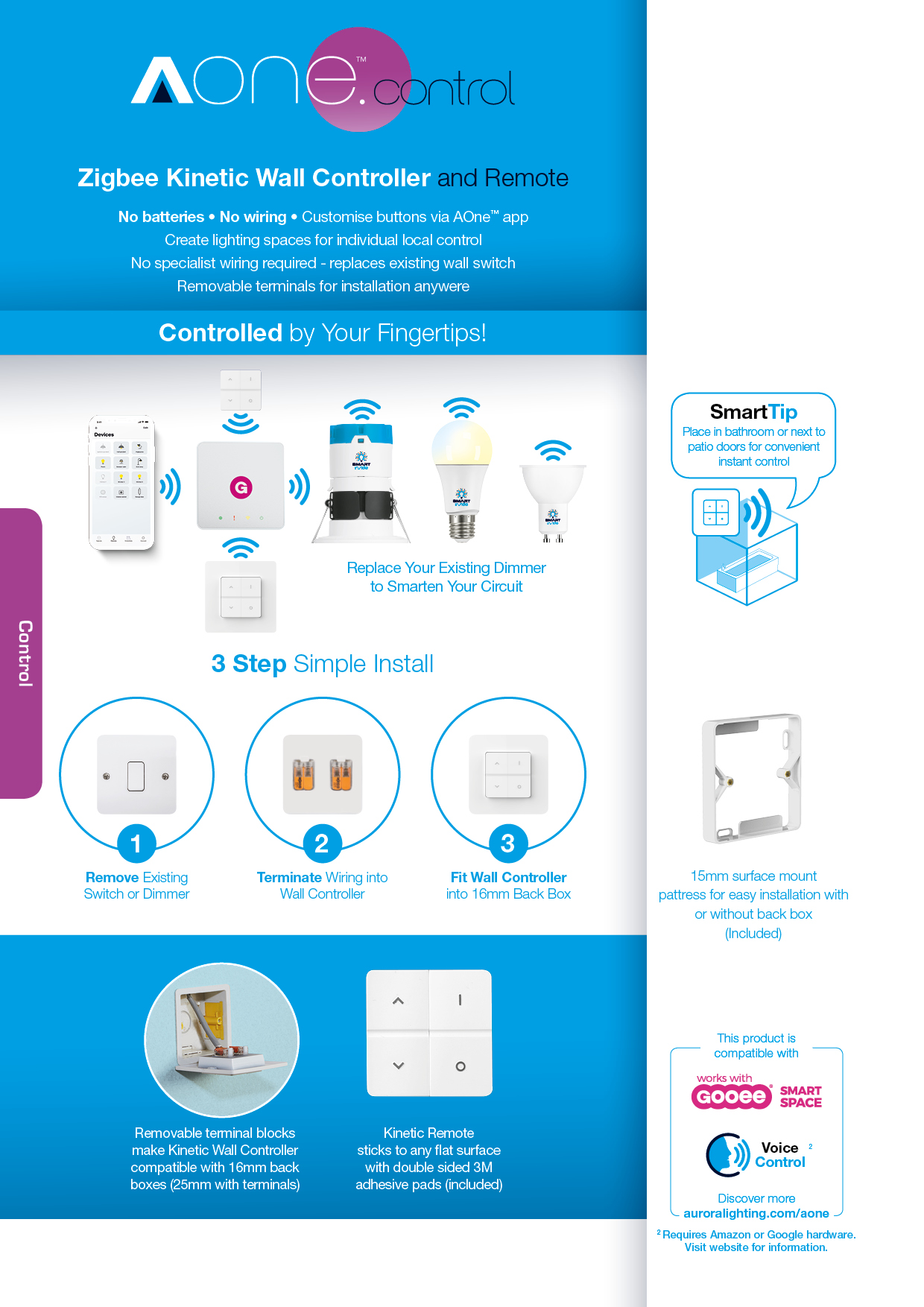 Auroras Aonetm Smart Lighting Sensing And Control Platform Rewiring Light Switch Double Along With Recessed Ceiling Symbol View Product Page