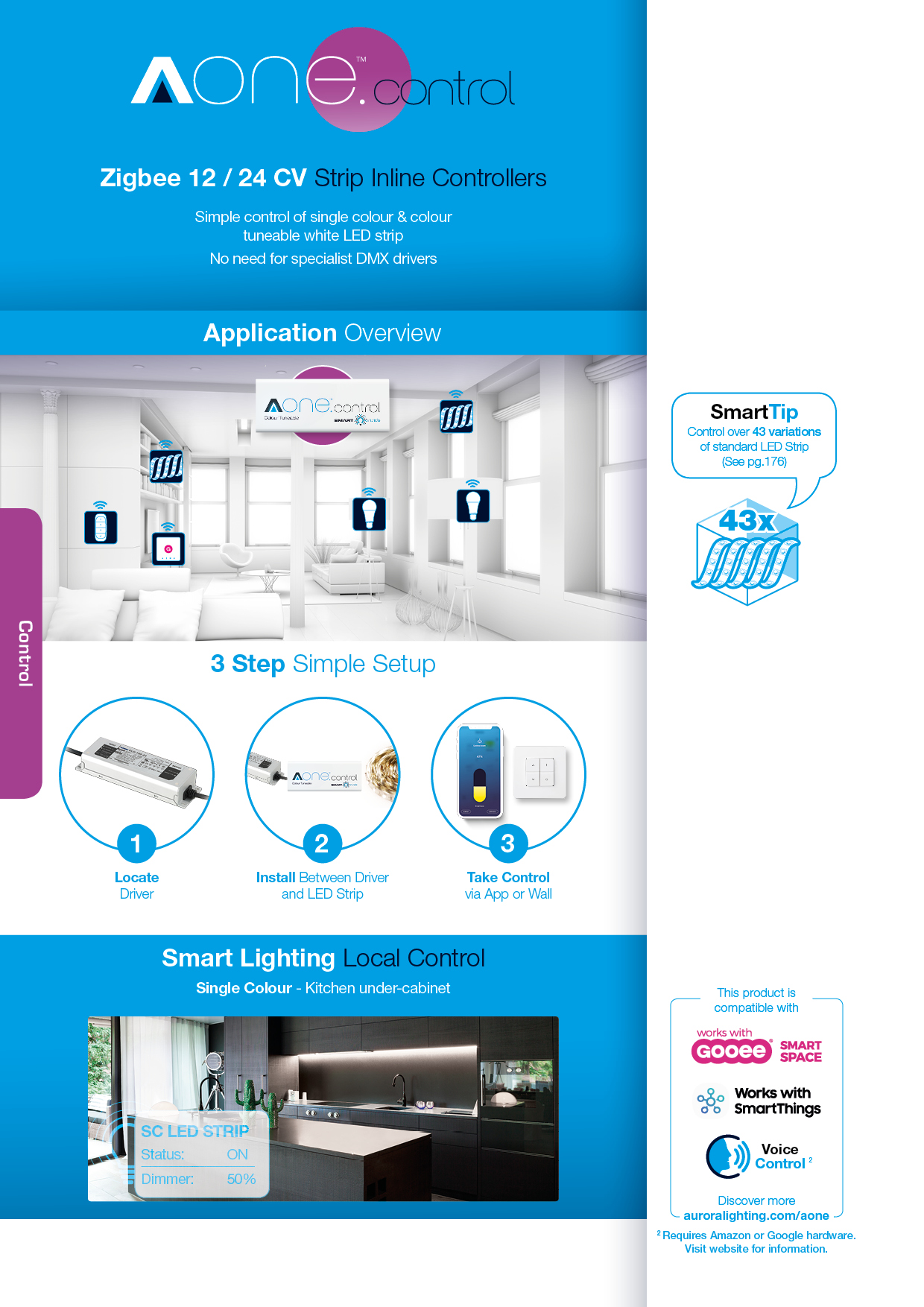 Aurora's AOneTM smart lighting, sensing and control platform