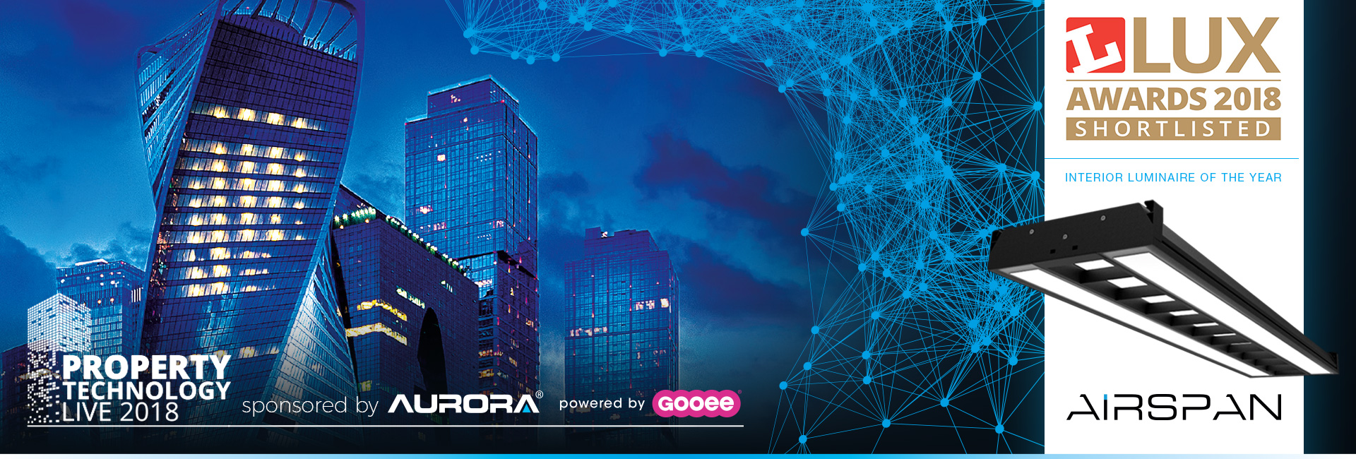 Aurora Lighting Headline Sponsors Of Property Technology