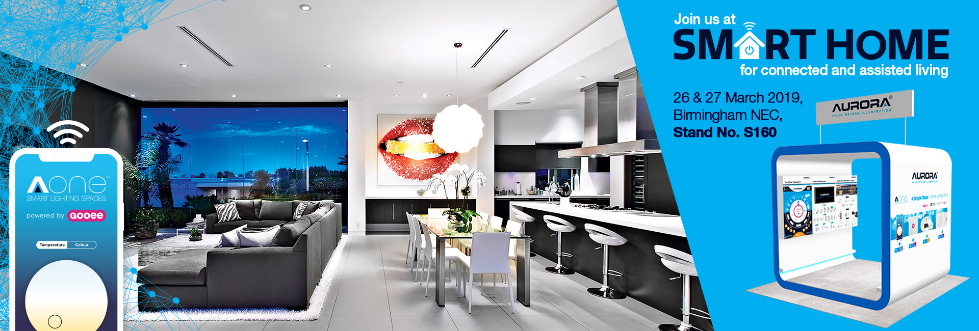 Show products in category Aurora Lighting Exhibiting at Smart Home Expo at the NEC & Exciting New Launch